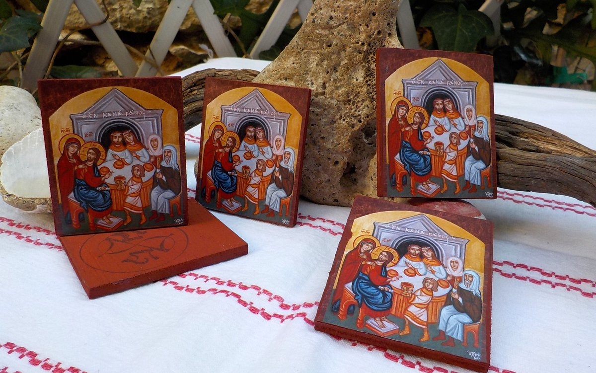 Art Piece Wedding Gift : Miniature byzantine cana Wedding icons- Wedding Favors by angelicon ...