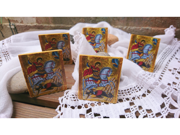 St George mini icon favors