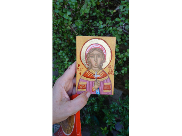 A female saint and martyr