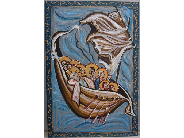 Calming the storm in the  Sea of Galilee