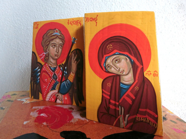 Two piece Annunciation to the Blessed Virgin mary