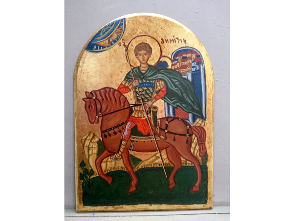 Antique style Arch shaped byzantine icon