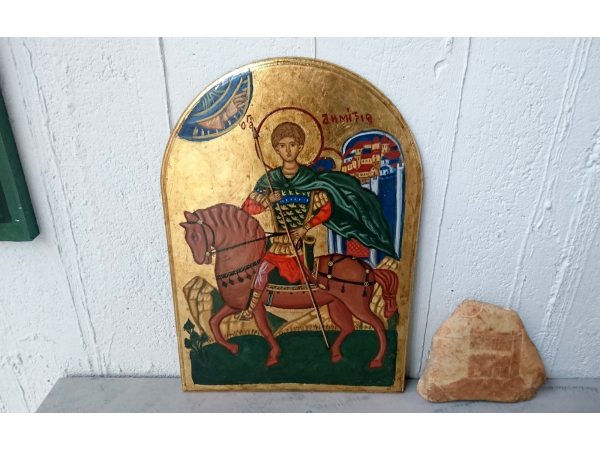 The patron saint of the city of Thessalonica