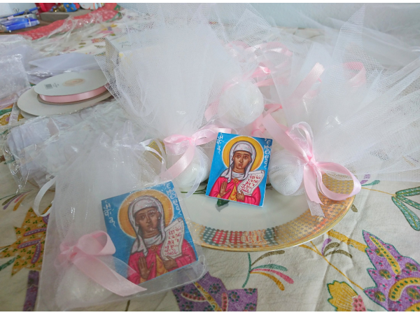 Christening  bombonniere for a baby girl