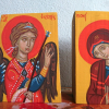 An abstract twofold Evangelismos of Theotokos