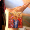 naive style mini baptism gifts inspired by egyptian coptic iconography