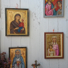 St Anne and the Virgin Mary amongst other framed icons