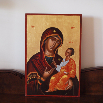 The All Holy mother and Christ religious painting