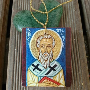 hanging icon with the orthodx st Alexandros
