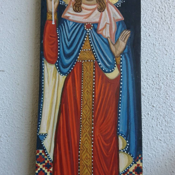 Painted by hand Female Saint