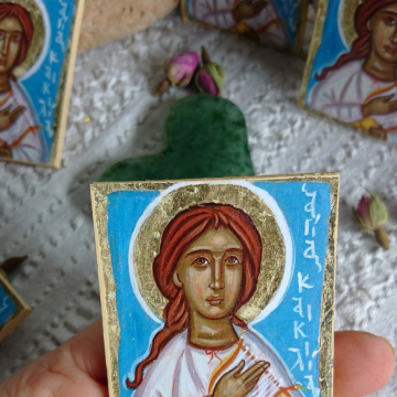 Mini icon favors of St Cecilia