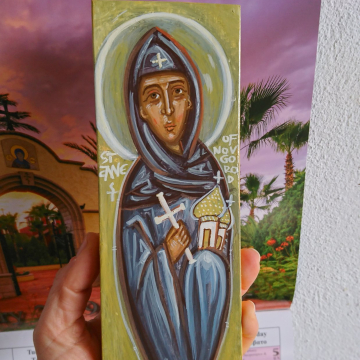 Painting of the female nordic saint