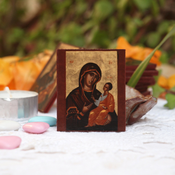 The icon of Virgin and Christ Child in miniature
