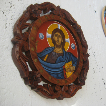 Jesus Christ Pantocrator contemporary icon