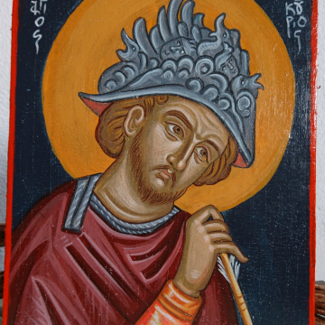 Contemporary byzantine icon of the Saint
