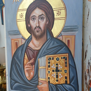 Pantokrator inspired by Monastery of St Catherine icon