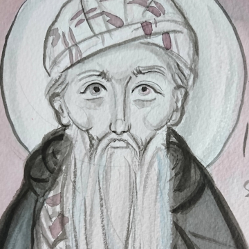 The image of the desert father with Pen and Ink