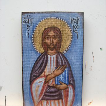 Folk art and imagery influenced by coptic egyptian art