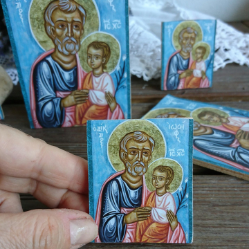 Greek icons christening gift made in Greece
