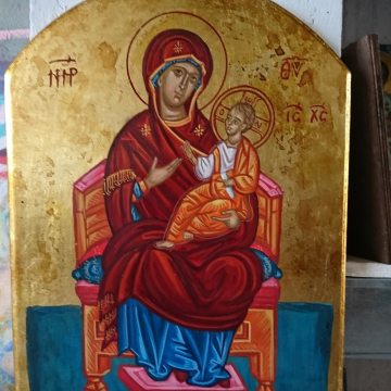 Traditional Mother of God Enthroned