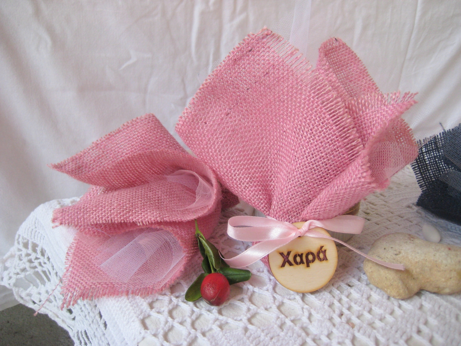 Baptism bomboniere with Greek Wishes favors - 10 boubouniera for a ...