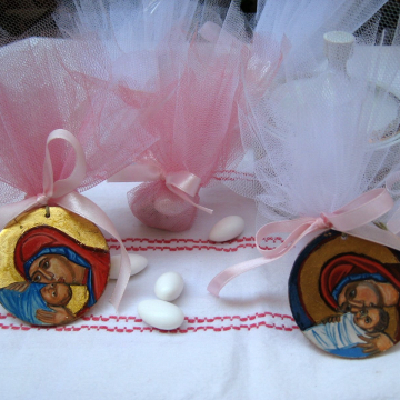 Bomboniere gifts- Baptism and wedding icon favours