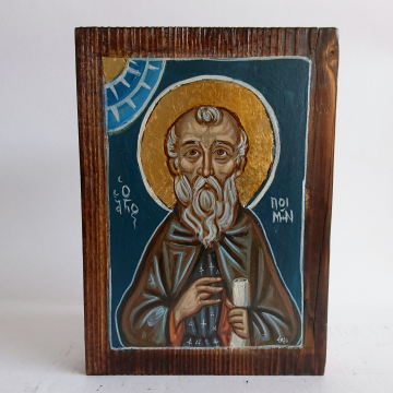 Abba Poemen- Original Byzantine Icon of the Egyptiam Monk Saint Fathers of the DesertPainted by hand on Fir wood board 5x7 inches