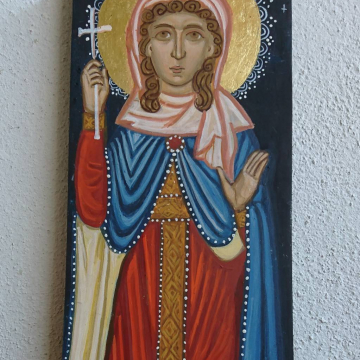 St Barbara Hand Painted Religious Icon of the Female saint and Martyr - Byzantine Icons Art and Iconography made in Greece