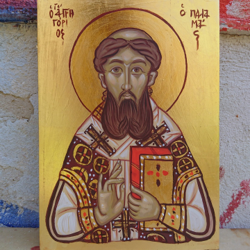 Saint Gregory Palamas Byzantine icon - Orthodox art objects and icons Original handpainted icons made in Greece