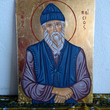 Made to Order Saint Paisios of Mt Athos- Icon of St Paisius in plywood- Original icon painting byzantine art orthodoxy today