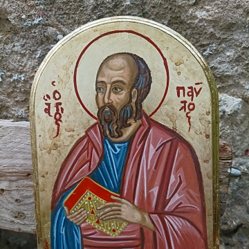 Icon of St Paul the Apostle of Gentiles- byzantine art home shrine icons and decorations christian tradition and iconography