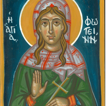 """Made to order 5x7""""  byzantine icon of St. Photini the Samaritan Woman- Contemporary religious art and holy icons"""