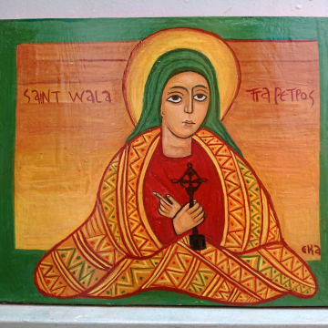 St Wallata Petros- an ethiopian Saint Coptic art and iconography - African women painting female empowerment